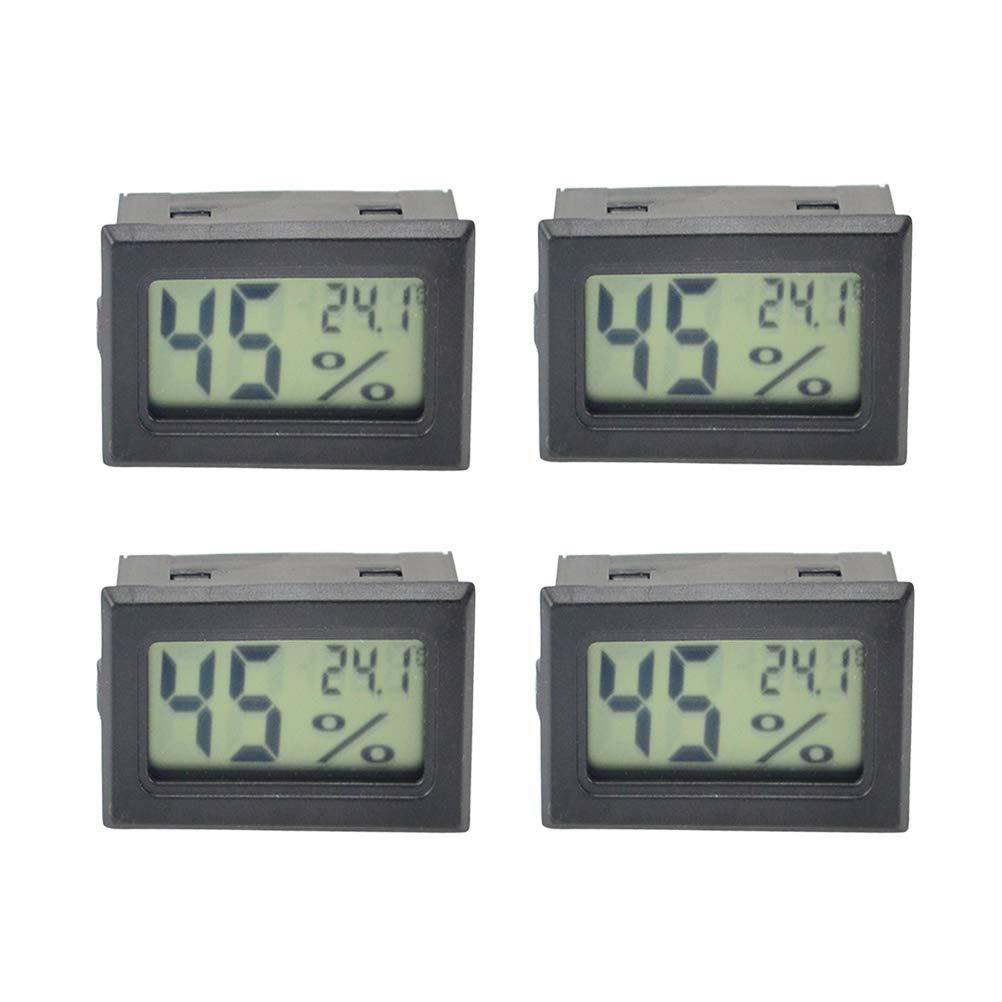 Yardwe 4 unids Mini Reloj meteorológico Digital Interior Puerta Temperatura Humedad estación de pronóstico del Tiempo Reloj Despertador: Amazon.es: Hogar