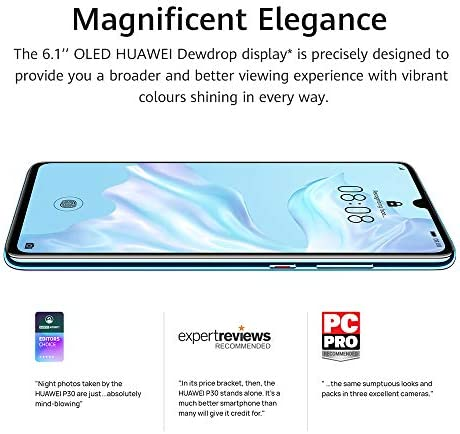 Huawei P30 Single-SIM 128GB ELE-L09 (GSM Only, No CDMA) Factory Unlocked 4G/LTE Smartphone - International Version (Breathing Crystal)