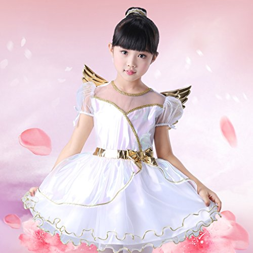 Fly Halloween Costume Creative Show Female Children Show Stage Costume Fairytale Angel Elf Costume Halloween Supplies]()