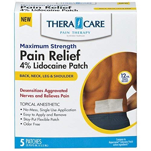 Maximum Strength Pain Relief - 4% Lidocaine Patches (5 Count) x 3-Pack (15 Patches) (Lidoderm Lidocaine Patch)