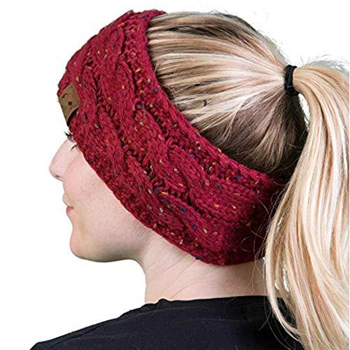 Kikole Women Winter Knitted Headband,Crochet Twist Hair Band Hat Cap Ear Warmer Confetti Knit Head Wrap