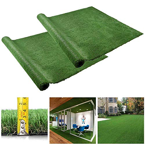 Yescom 10x6.6 ft Artificial Grass Mat Fake Lawn Pet Turf Synthetic Pet Dog Pee Pad Green Garden Outdoor Indoor Pack of 2 ()