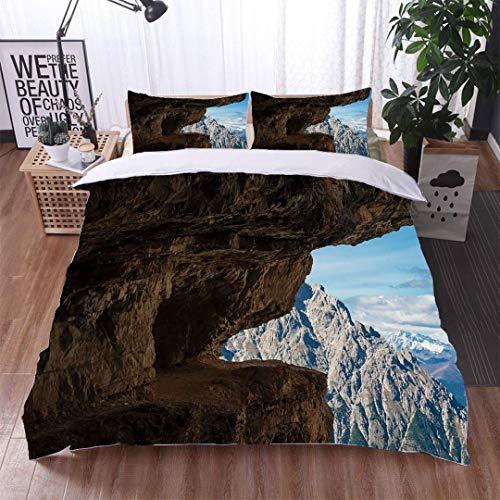 VROSELV-HOME Modern Pattern Printed Duvet Cover,Via ferrata in