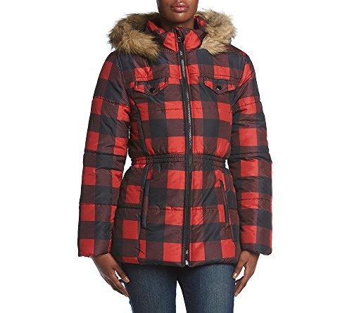 Rampage Arya Down Alternative Jacket Red Black Medium