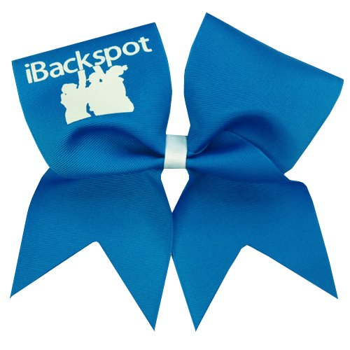 Chosen Bows New iBackspot Cheer Bow, Neon Blue
