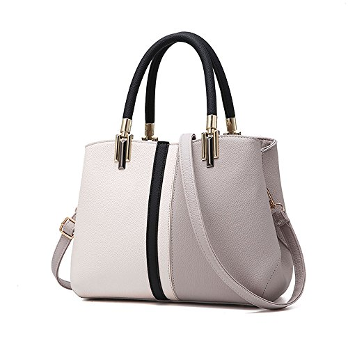 From Shoulder Women Gray Leather Satchel Handle Nevenka for Handbags Top Bag Purses and Bags Totes vw7Cx7pq