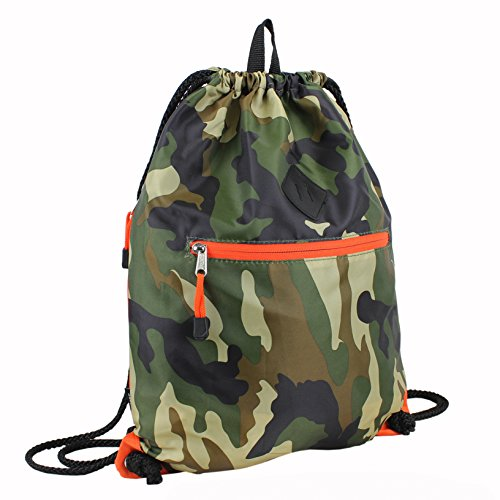 Eastsport Drawstring Sackpack Sling Backpack, Army -