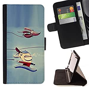 Momo Phone Case / Flip Funda de Cuero Case Cover - Niños Perro del personaje de hielo del invierno - Sony Xperia Z3 D6603