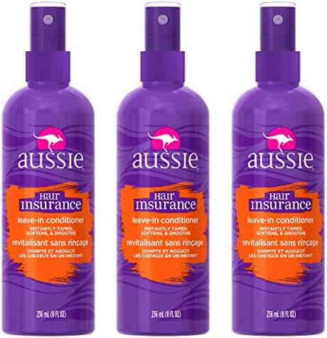 Aussie Hair Insurance Leave-In Conditioner 8 oz (Pack of 3)