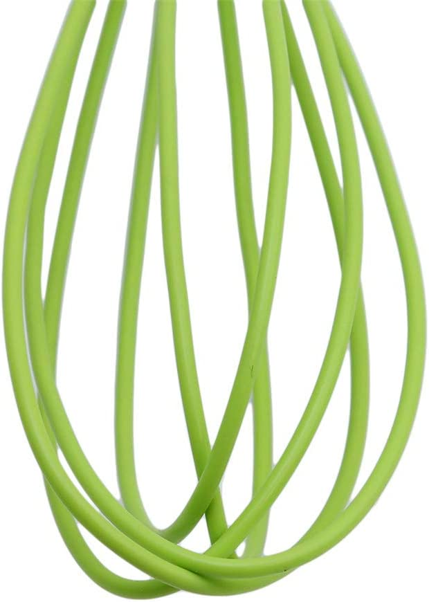 beating Green stirring ULILICOO Portable egg whisk silicone stir bar kitchen mini egg whisk for mixing foaming