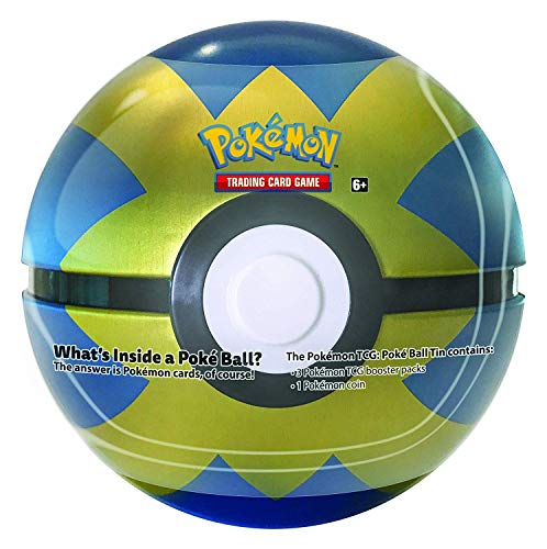 Pokemon TCG Card Game Poke Ball Rare All New 2018 Quick Ball Collector's Tin! 3 boosters!