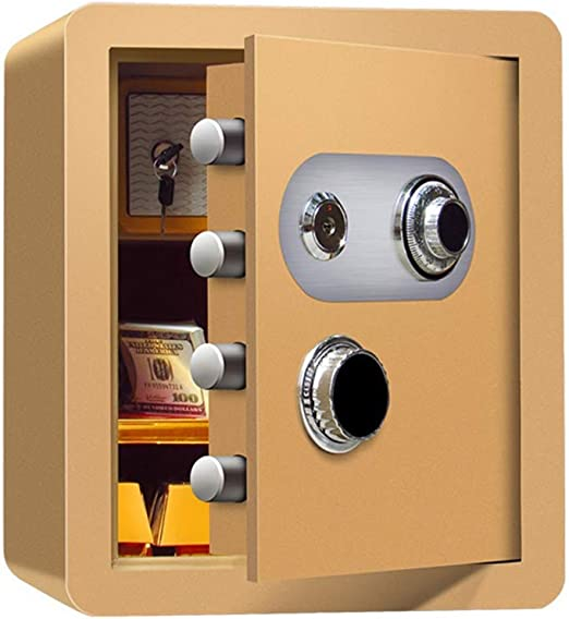 Cajas fuertes Caja de depósito de 45 cm, Contraseña mecánica antirrobo con gabinete interno Código de cabecera Oficina segura Caja fuerte de acero para archivos en efectivo - No requiere batería Gabin: