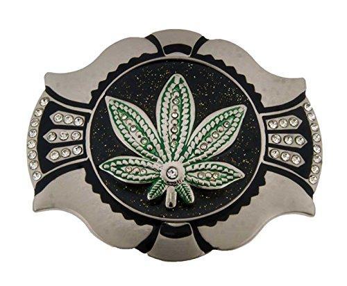 Marijuana Leaf Weed Cannabis Plant Belt Buckle Stoner Rasta Reggae Tattoo Gothic