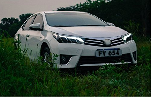 GOWE Car Styling for Toyota Corolla Headlights 2014-2016 Altis LED Headlight DRL Bi Xenon Lens High Low Beam Parking Fog Lamp Color Temperature:8000k;Wattage:55w 0