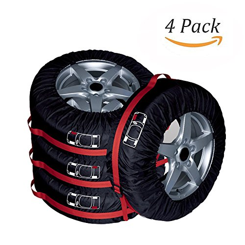 31' Tire (Big Ant Tire Cover Seasonal Tire Tote Bag with Carrying Handles for Car Off Road Truck Vans for Wheel Diameter up to 31''-Pack of 4)