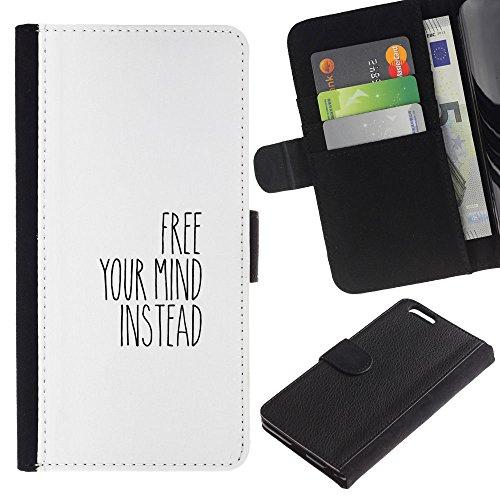 ULTIX Cases / Apple Iphone 6 PLUS 5.5 / FREE YOUR MIND / Cuir PU Portefeuille Coverture Shell Armure Coque Coq Cas Etui Housse Case Cover Wallet Credit Card