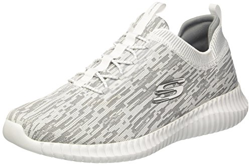 Hartnell Elite 45 Blanc EU Skechers Enfiler White Noir Grey Baskets 5 Gris Flex Homme wSc14