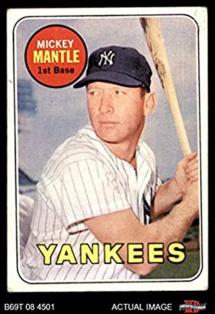 20d718edffb 1969 Topps   500 YN Mickey Mantle New York Yankees (Baseball Card) (Mantle