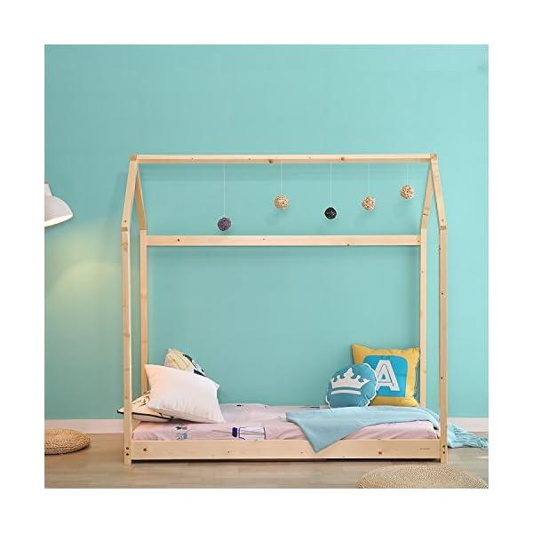 Kids House Bed Frame & Mattress 4