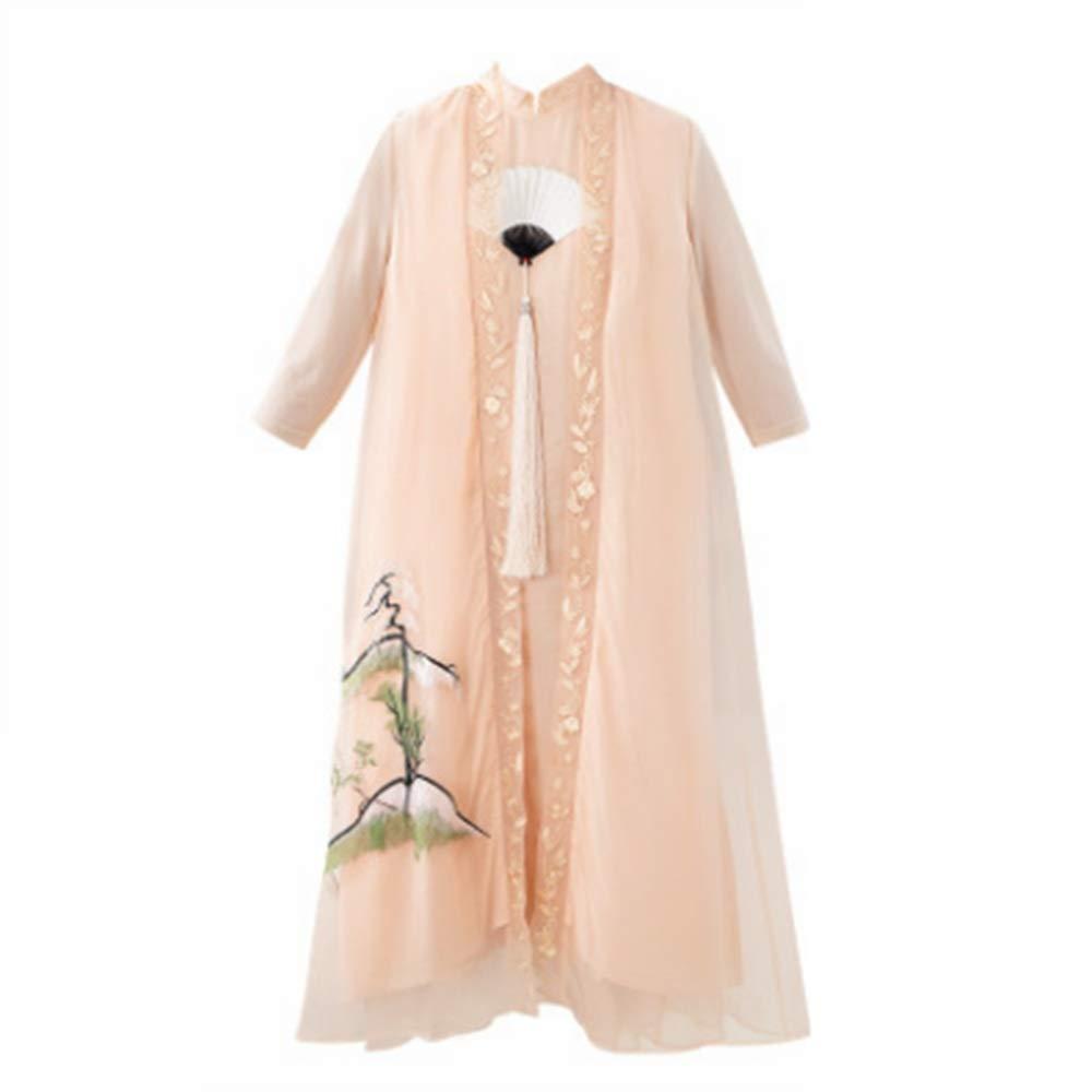 ドレス、女性のカクテルフォーマルスイング ドレススカートセットトップススタイルトップススリーブ5スリーブ袖ロングスカート4サイズ/ M/L/XL/XXL スリーブスリムビジネスペンシル (サイズ さいず : M m) M m  B07R8MRFJN