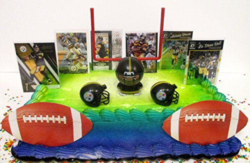 (PITTSBURGH STEELERS Team Themed Football Birthday Cake)