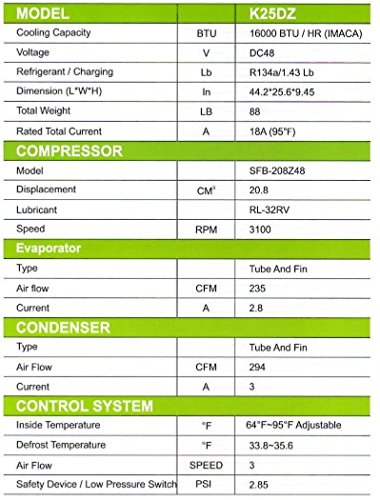 Kingtec Solar K25dz Solar Power Air Conditioner For