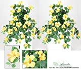 "29"" Artificial Hibiscus Hanging Flower Bushes, with No Pot, (Pack of 2)"