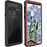 ShellBox Samsung Galaxy Note 9 Waterproof Case, Shockproof Snowproof Cover IP68 Underwater Full Body Protection Crystal Clear Built-in Screen Protector Case Samsung Note 9
