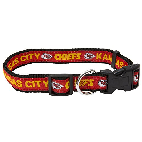 Pets First NFL Kansas City Chiefs Pet Collar, (Kansas Accessories)