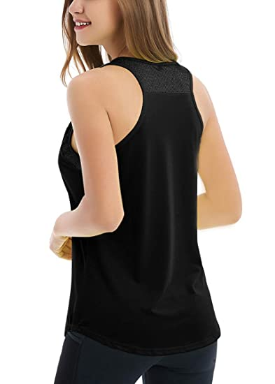db2d3dab85 Fihapyli Womens Workout Tanks Sleeveless Yoga Tank Tops for Women Mesh Yoga  Tank Muscle Shirt Women