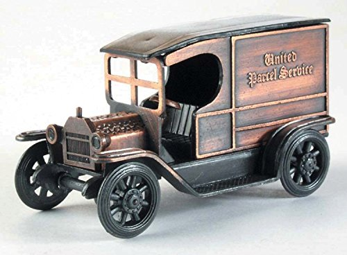 Antique UPS Delivery Truck Die Cast Metal Collectible Pencil Sharpener