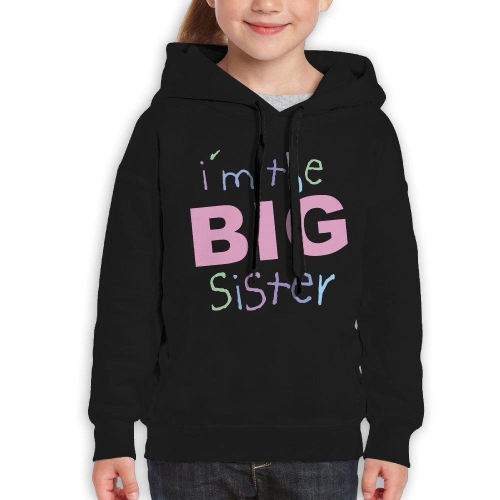 Vintopia Boy Big Sisters Funny Hiking Black Sweater L