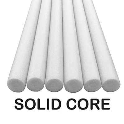 Oodles Solid Core Deluxe Foam Pool Swim Noodles Five Foot Length- 6 Pack White: Sports & Outdoors