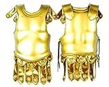 Forum Deluxe 2-Piece Roman Costume Armor, Gold, One Size