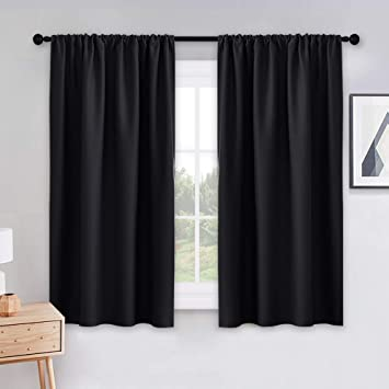 Amazoncom Pony Dance Black Out Window Curtains 2 Panels Thermal