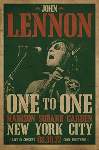 John Lennon Madison Square Garden Concert Classic Rock Music Legend Icon Print (Unframed 24x36 Poster) ()