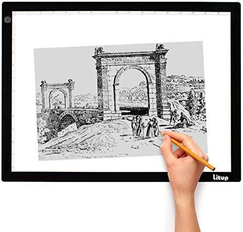 Litup LP3 A3 Light Box 18.86×14.21 Inch Light Pad Tracing Light Box Light Table Drawing Light Board for Art Animation Sketching -LP3