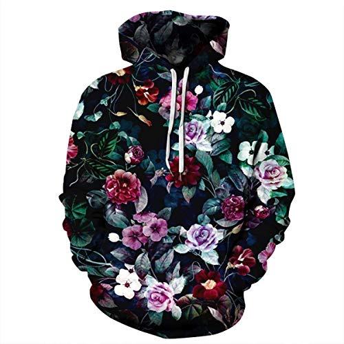 (Mosszra Floral Flower Vector Pattern Vintage Street Wear Fashion Casual Hoodies)
