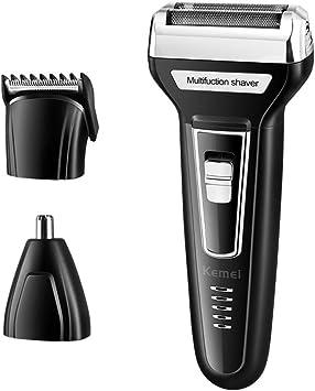3 en 1 hombres de lámina eléctrica afeitadora pelo cortauñas nariz pelo trimmer USB recargable maquinillas de afeitar con recorte de precisión pop-up para adultos familia: Amazon.es: Salud y cuidado personal