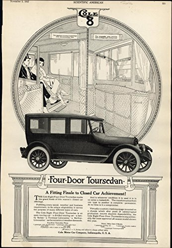 Cole 8 early Motor Cars Touring Sedan 1917 vintage WWI Advertisement - Olds Touring Sedan