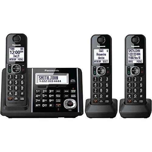 PANASONIC KX-TGF343B DECT 6.0 1.9 GHz Expandable Digital Cordless Phone System (3 Handsets) electronic consumer