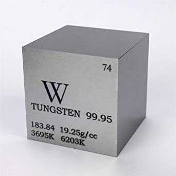 1 (25,4 mm tungsteno METAL cubo 315 G 99,95% grabado