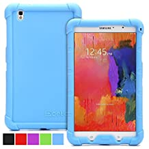 Poetic Samsung Galaxy Tab Pro 8.4 Case [TURTLE SKIN Series] - Rugged Silicone Case for Samsung Galaxy Tab Pro 8.4 (SM-T320 / SM-T325) Blue (3-Year Manufacturer Warranty from Poetic)
