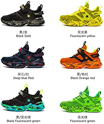 Garcon Respirant Chaussures de Course Antid/érapantes Sneakers Enfants Baskets Competition Entrainement Chaussure de Sports 29-39
