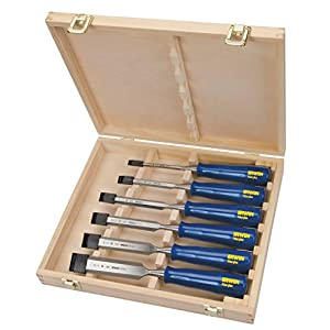 IRWIN Marples Woodworking Chisel Set, 6 Piece, M444SB6N