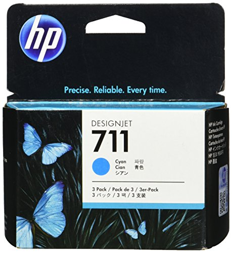 - HP 711 3-pack 29-ml Cyan Designjet Ink Cartridge (CZ134A) for HP DesignJet T120 24-in Printer HP DesignJet T520 24-in Printer HP DesignJet T520 36-in PrinterHP DesignJet printheads help you respond quickly by providing quality speed and easy hassle-free printing