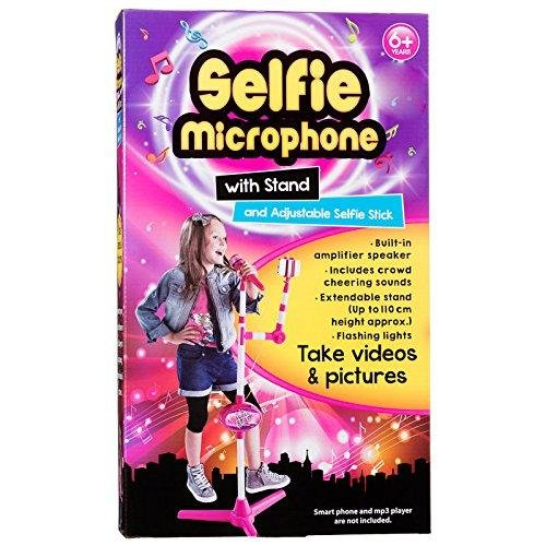 Selfie Microphone With Stand Adjustable Selfie Stick