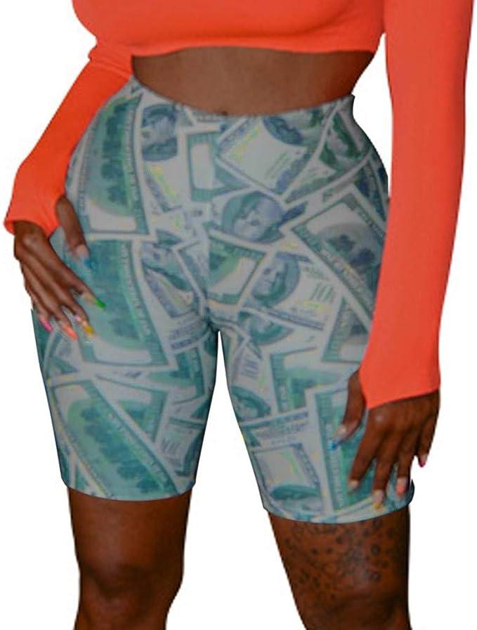 Lunule Pantalones Cortos Mujer de Cintura Alta elásticos Quick Dry ...
