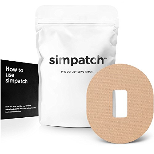SIMPATCH Adhesive Patch for Dexcom - Pack of 25 - Available in 4 Colors (Tan)