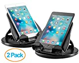 Halter 2 Pack Of Tablet Stand with 360° Swivel Base and 4 Angle Tilt Adjustment for 7'' - 10'' Inch Apple iPad, Samsung Galaxy Tab, Kindle, Google Nexus, e-Readers, Smart Phones and More